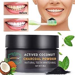 Polvere Denti,Carbone Attivo Denti,Carbone Denti,Teeth Whitening,Sbiancamento Denti Carbone Attivo Naturale,di polvere…