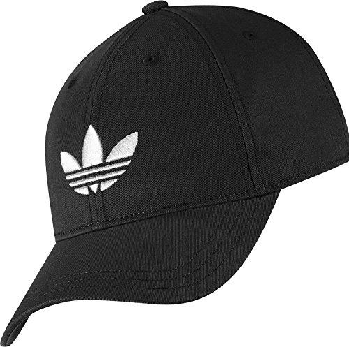 adidas Erwachsene Kappe Trefoil Cap, Schwarz/Weiß, One size, 4056559441418