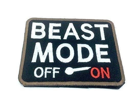 Beast Mode ON Bestickt Airsoft Klett-Patch