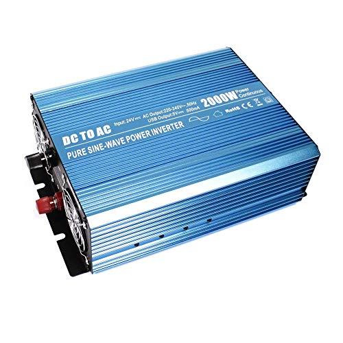 BeMatik - Reine Welle elektrische Inverter 20~31 V DC zu 220 V AC 2000 Watt USB solar (2000-watt-ups)