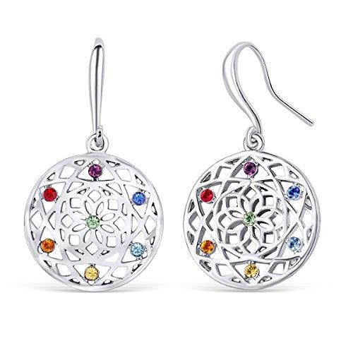 Chakra flower Ohrringe mit Swarovski® Kristallen (Ohrringe Chakra)
