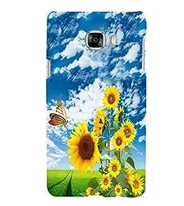 PrintVisa Bird On Flower Pattern 3D Hard Polycarbonate Designer Back Case Cover for Samsung Galaxy C5