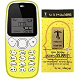 IKALL K71 Yellow Mobile Phone With Vibration Feature, 800 MAh Battery, With Anti-Radiation Sticker