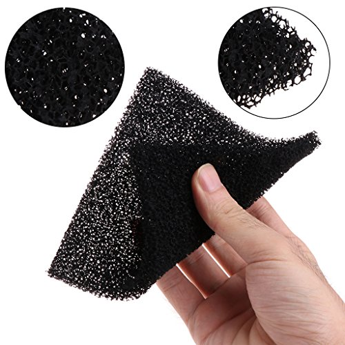 SimpleLife 5 Stück Universal Black Aktivkohle Schaum Schwamm Luftfilter imprägniert Blatt Pad