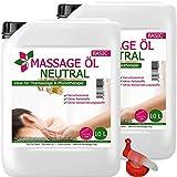 MyThaiMassage Massageöl Neutral & Soft 20-Liter (2 x 10-L) + Kanisterhahn