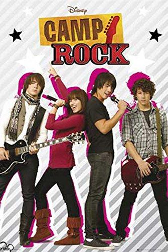 Camp Rock - Jonas Brothers - Group - Filmposter Kino Movie TV-Serie Musik - Grösse 61x91,5 cm + 2 St. Posterleisten Holz 61,5 cm