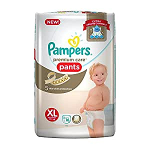 Pampers Premium Care Extra Large Size Diapers Pants (16 Count)