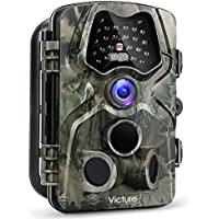 Victure Cámara de Caza 12MP 1080P Cámara de Vigilancia Trail Cámara Impermeable IP66 PIR Sensor de
