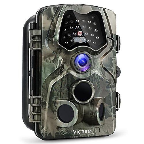Victure Wildkamera Fotofalle 12MP 1080P Full HD Jagdkamera 120°Weitwinkel Vision Infrarote 20m Nachtsicht Wasserdichte IP66 Überwachungskamera mit 2.4