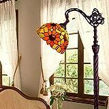 Gweat Tiffany 12-Zoll-Continental Sunflower pastoralen antiken Stehlampe Schlafzimmer Wohnzimmer Stehlampe Angeln Kaffee Lampe