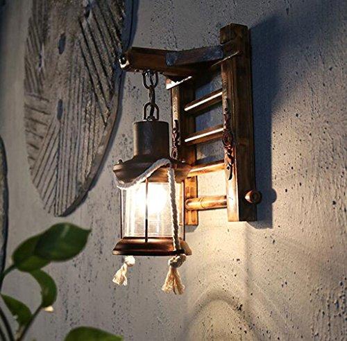 Appliques Murales Spotway Hallway Restaurant Loft Salon De Thé Étude Chambre Lecture Éclairage Balcon Bar Hôtel Aisle Bambou Applique 33 * 24 Cm