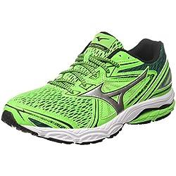 Mizuno Wave Prodigy, Zapatillas de Running Para Hombre, Multicolor (Greenslime/Silver/Evergreen 04), 42 EU