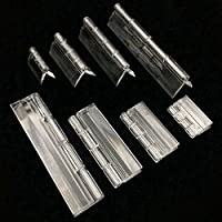 10Pcs Kunststoff Faltscharniere Plexiglas Scharnier Durable Clear Acryl