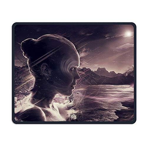 Preisvergleich Produktbild HYYCLS Girl Face Surrealism Mauspadss Gaming Pad Mouse Mat