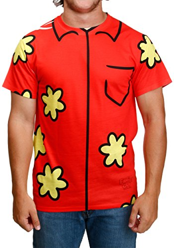 Kostüm Guy Family Peter - Family Guy Quagmire Erwachsene Sublimation Kostüm T-Shirt (Large)