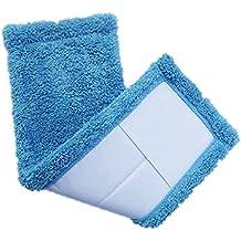 Zolimx Fregonas, Hogar Almohadilla de Polvo de Coral Velet Repuesto de Cabeza Fregona Reemplazo Para Limpieza Del Hogar (Azul)