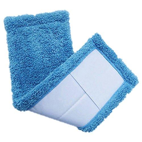 Pnizun - Reinigungs Pad Coral Velet Refill Haushalts Staubmopp Head Ersatz geeignet für die Reinigung der Boden weicher Textur praktisch [Blau ] (Head Refill)