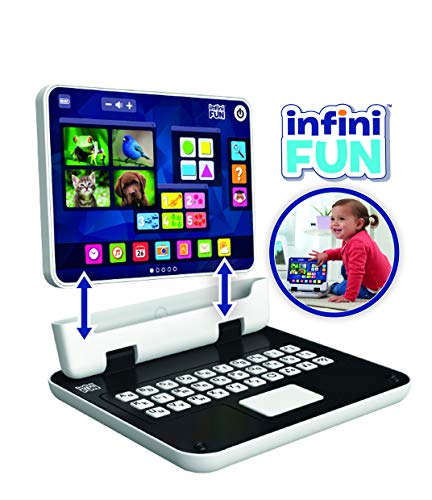 infinifun-Mi Primer Ordenador 2en 1Juguetes de baño, S15500, Sujetadores