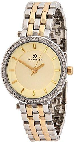 Accurist Reloj Análogo clásico para Mujer de Cuarzo con Correa en Latón 8123.01_A