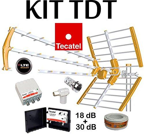 KIT ANTENA TECATEL BKM-18 NARANJA + ROLLO CABLE TELEVES