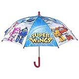 Perletti perletti7514538x 8cm Boy Super Flügel bedruckt Sicherheit Öffnender Regenschirm