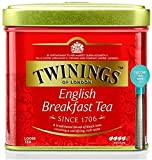Twinings Tè Sfusi - English Breakfast - Tradizionale Miscela Inglese di Tè neri dal Gusto Intenso ed Energizzante - Tè per la Prima Colazione per Eccellenza - Latta 100 g