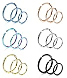 Best Hoop Nose Rings - Yadoca 18Pcs 20G 316L Stainless Steel Nose Ring Review