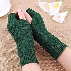 IMmps Handschuhe Herbst und Winter Frauen warme gestrickte Arm Fingerlose Handschuhe Lange Stretch-Handschuhe Männer und Frauen warme Handschuhe-T23256