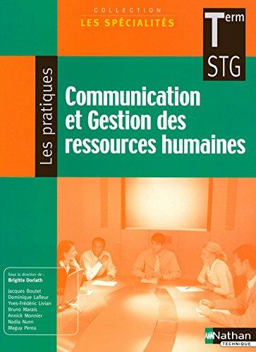 Communication et Gestion des ressources humaines - Terminale STG