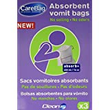 Cleanis Carebag Vomit Bag with Super Absorbent Pad, 3 Count by Cleanis Inc.