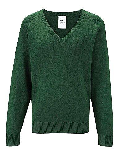 Scuola Banner Uniform Premier LC V Collo Maglione a maniche lunghe maglione acrilico Bottle 66 cm Petto