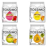 Tassimo Elite Set Including 4 Varieties Earl Grey Tea, Green Tea, Fruits of the Forest Tea, Chai Latte, Capsule, T-Disc Holder by Tassimo