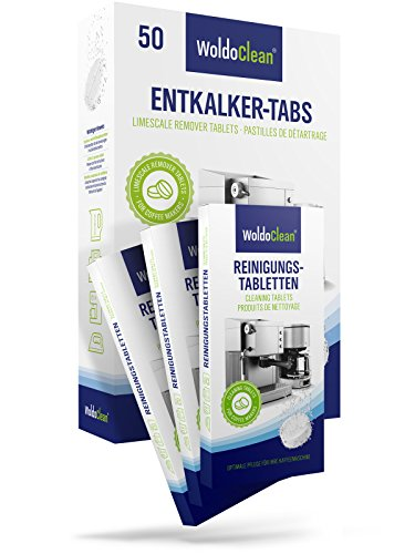 WoldoClean I Reinigungset I 50x Entkalkertabs I 30x Reinigungstabletten I Für Kaffeevollautomaten...