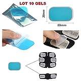 Gel patch pad pour ceinture electrostimulation abdominale, Electrostimulateur Musculaire/ Universel /compatible toute ceinture/ Gels Pad Electropatch / feuille gel de remplacement electrostimulation/ 10 PIECES