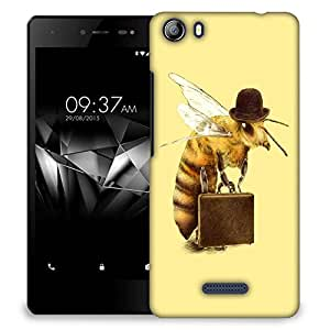 Snoogg Bee On Tour Designer Protective Back Case Cover For MICROMAX E481