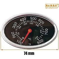 Bar.b.q.s 01T12 7,4 centimetri Barbecue Fumatore Grill in acciaio inox Termometro Fahrenheit Temperatura Gauge barbecue termostato controlador de temperatura