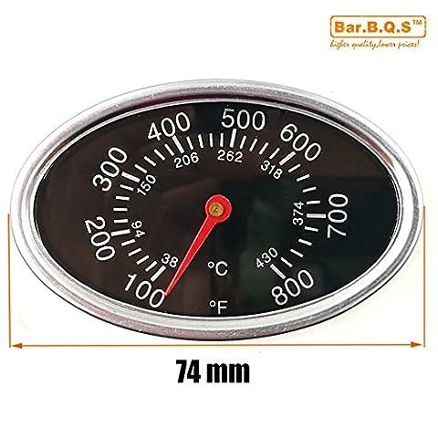 Bar.B.Q.S 01T12 7.4cm Barbecue Smoker Grill Edelstahl Thermometer Fahrenheit Temperatur (Smoker Grill Teile)