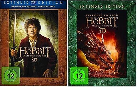 Der Hobbit: Teil 1+2 als Extended Edition * 3D Blu-ray Set (Eine unerwartete Reise + Smaugs