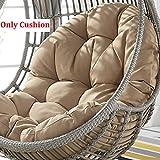 SXFYZCY Rotondo Altalena Sedile Cuscino per Uccello Nido Appeso Uovo Canna Sedia Spessa Cuscino Confortevole Rimovibile(Non Include la Sedia a Dondolo) D,86x120cm