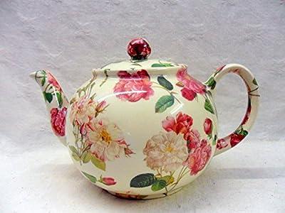 reudoute Rose Théière 6tasses par Heron Cross Pottery.