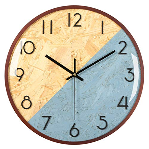 YJSMXYD Wanduhren Moderne Silent Clocks Nordic Stil Stumm Wanduhr Holz Retro Digital Stil Stille Uhren Wand Büro Wohnkultur Freies Verschiffen