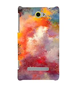 Fuson Designer Back Case Cover for HTC Windows Phone 8S :: HTC 8S (painting colours art Beautiful colourfull paint)