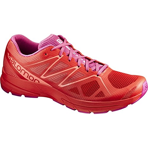 Salomon Sonic Pro 2 W, Zapatillas de Trail Running Mujer, Rojo (Poppy Red/Rose Violet/Living Coral), 36 EU