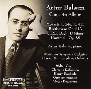 Artur Balsam-Concerto Album [Import anglais]