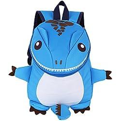 Mochila Infantil Guarderia Chico Bambino Bolsa de escuela para niños Bolso de 3D dibujos animados Azul Talla Única