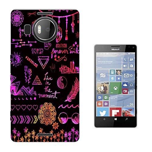 003015 - Hippie Collage Peace Dreamcatcher Good luck Arrows Floral Roses flowers Design Microsoft Nokia Lumia 950 XL Fashion Trend Silikon Hülle Schutzhülle Schutzcase Gel Rubber Silicone Hülle