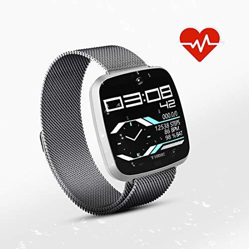 N Newkoin Smartwatches fitness tracker Smart sport Watch fitness orologio impermeabile elegante quadrante metal Band compatibile con iOS Android per unisex bambini