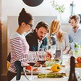 XREXS Vertikaler Hebel Korkenzieher Kaninchen Stil Korkenzieher Set 5 in 1 Flaschenöffner Manuell, Weinöffner mit Folienschneider,Vakuumstopper, Weinausgießer FDA Genehmigt - 6