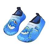 IceUnicorn Kinder Strandschuhe Jungen Mädchen Schwimmschuhe Aqua Schuhe Baby Badeschuhe für Beach Pool Surfen Yoga Unisex(Blau Große Augen Fisch,20/21EU)