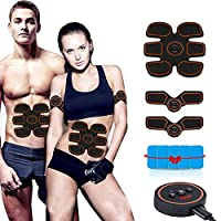 LuckLife Electric Muscle Stimulator, Muscle Toner EMS Portable Rechargeable Gym Workout Training and Home Office Fitness Toning Belt Equipment for Abdomen